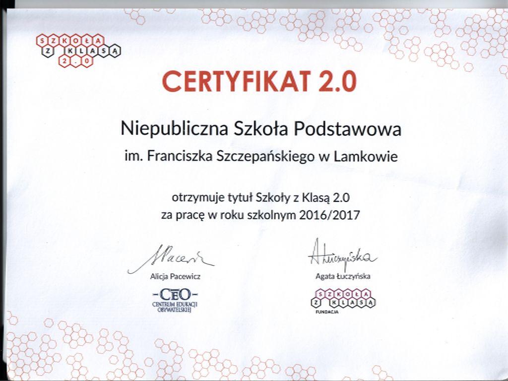 certyfikat 2.0